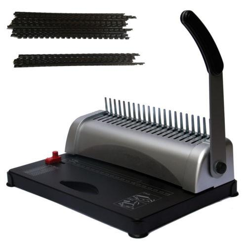 Ktaxon 21 Hole 450 Sheet Comb Binding Machine with Starter Kit 200 Pieces Combs, Perfect for Office Scrapbook Daily Documents