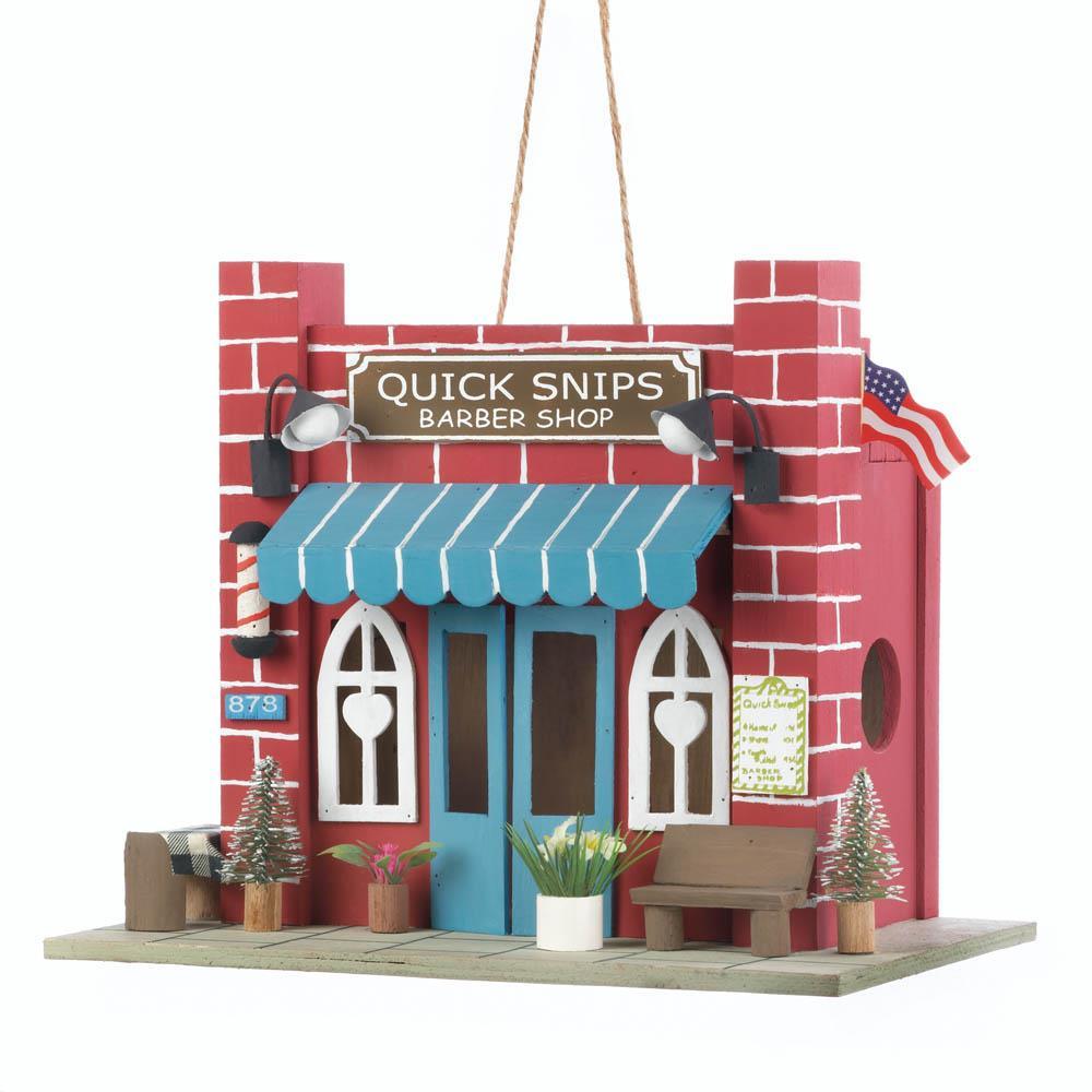 Birdhouse, Wooden Outdoor Modern Birdhouse For Finches