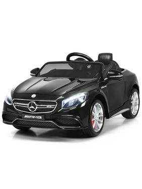 Gymax Kids Ride on Car 12V Licensed Mercedes-Benz S63 w/ MP3 Remote Control White/Black