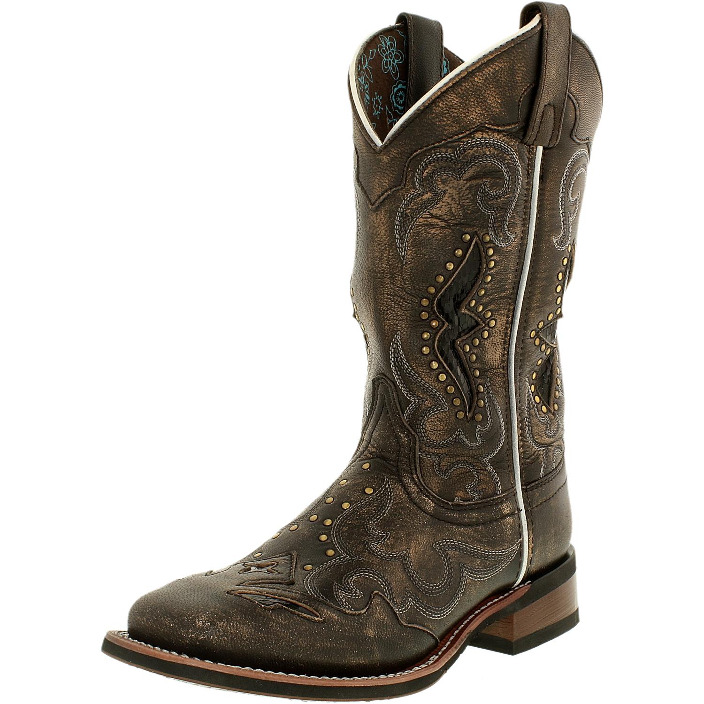 Laredo Women's Spellbound Leather Tan Snake Print Mid-Calf Boot 9M by Laredo