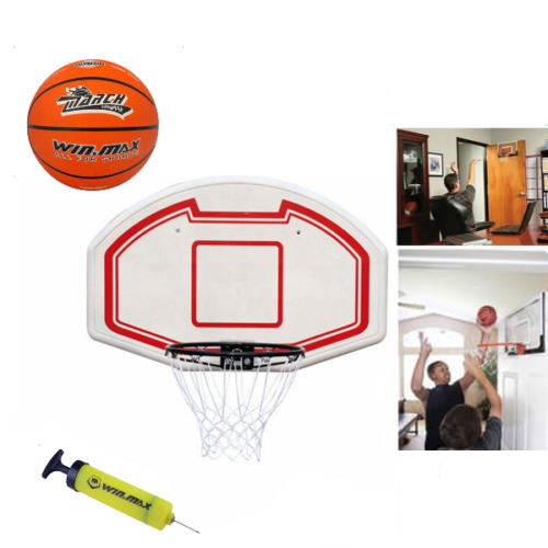 Zimtown Wall Mount Basketball Hoop / Over the Door Backboard with Baseketball &  Air Pump, for Kids Indoor, Office, Cubicle Playing Games
