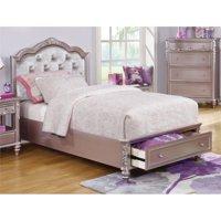 Coaster Caroline Full Tufted Storage Bed in Metallic Lilac