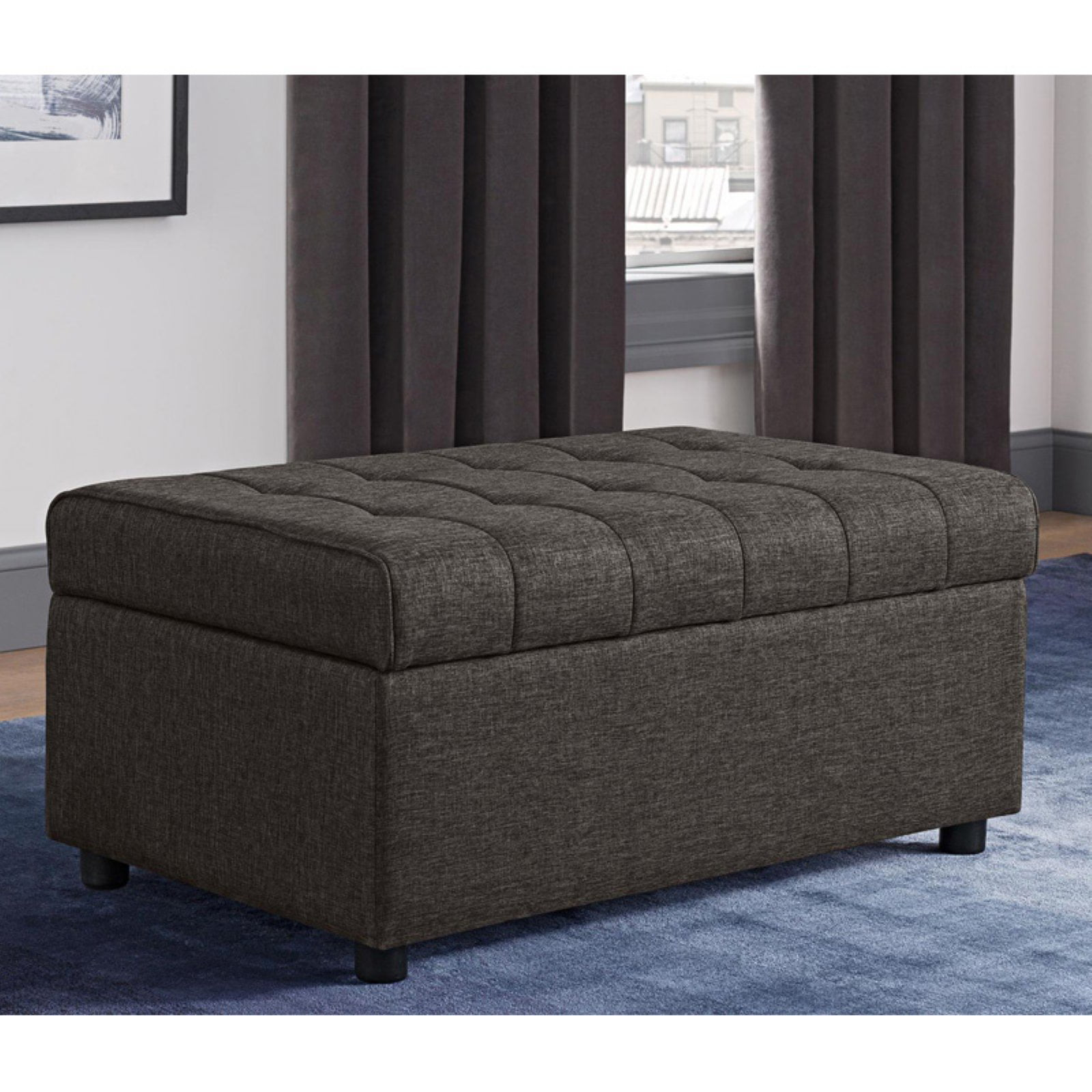 DHP Emily Rectangular Storage Ottoman, Multiple Colors by Dorel Home Products