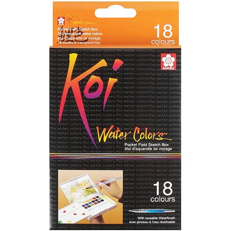 Koi Watercolor Paint Pocket Field Sketch 18-Color Set - Sakura Koi Watercolor