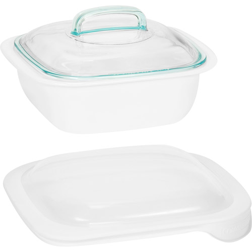 Corningware Simply Lite 1.5-Qt. Casserole Dish With Glass and Plastic Lids