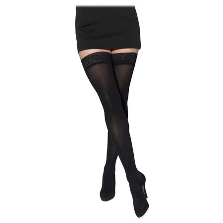 843 Soft Opaque Open Toe Thigh Highs w/ Grip Top - 30-40 mmHg Short
