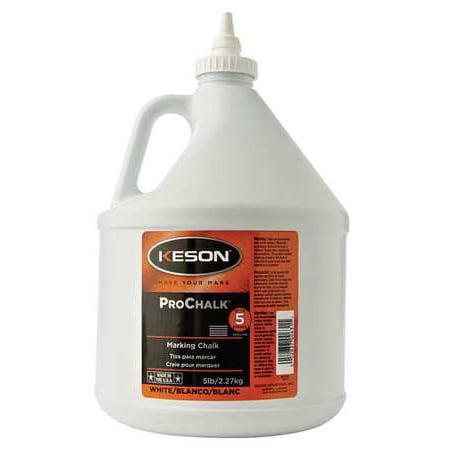 Keson 5 lb.,Marking Chalk Refill, Standard, White, - Metal Chalk Line