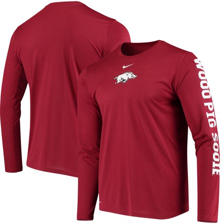 Arkansas Razorbacks Nike Week Zero Trainer Hook Performance Long Sleeve T-Shirt - (Zero Fashion Brand)