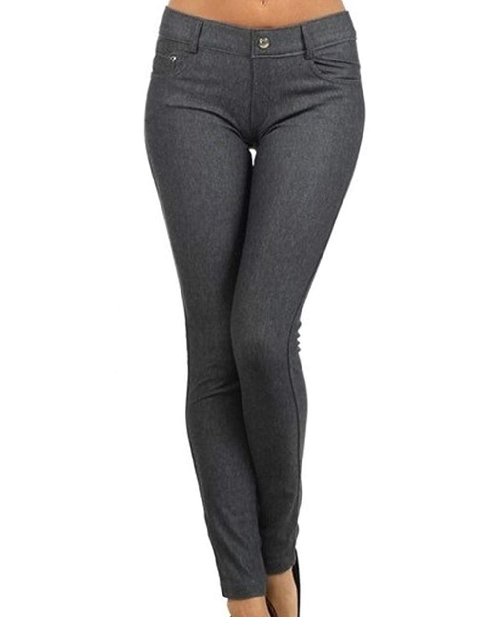 Deep Gray Women's Plus Mid-Rise Jeggings Leggings $44 3X
