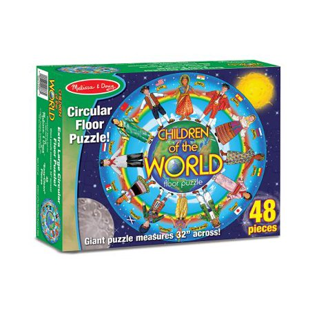 Melissa & Doug Children of the World Jumbo Jigsaw Floor Puzzle (48 pcs, 32 inches diameter)