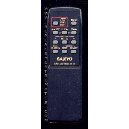SANYO SCR100 (p/n: 6360400481) Cassette Deck System Remote Control (new)