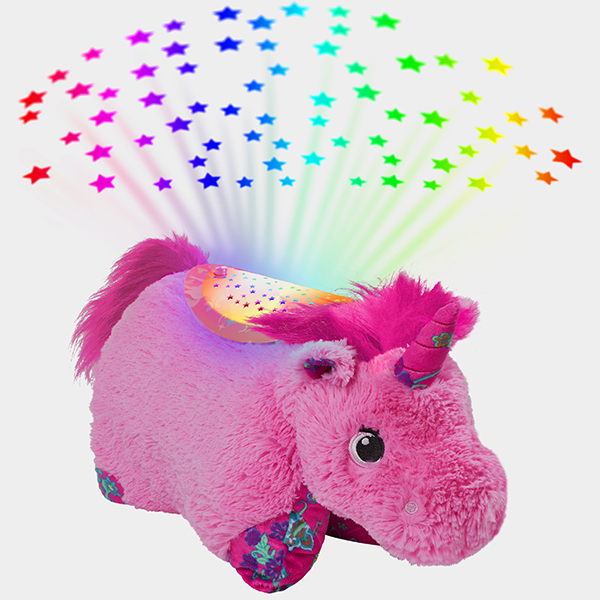 Pillow Pets Colorful Pink Unicorn Sleeptime Lite