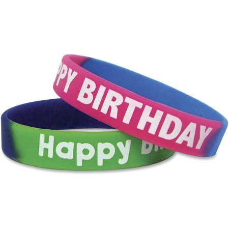Plastic Wristbands Variety Pack (Teacher Created Resources, TCR6571, Happy Birthday Wristbands, 10 /)