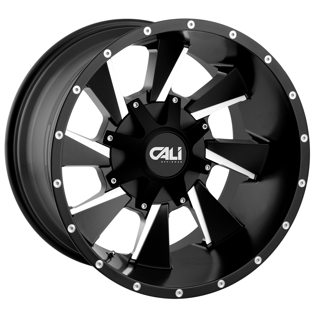 "20 Inch Cali Offroad Distorted 20x9 6x135/6x5.5"" +18 Black/Milled Wheel Rim"