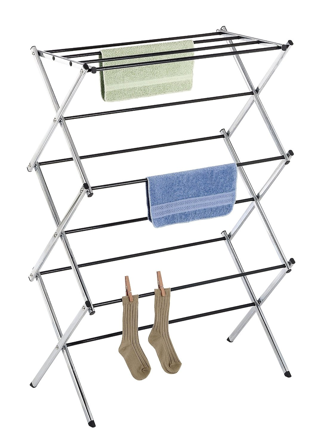 Folding Clothes Drying Rack, Chrome, Rust-Proof Guarantee, Premium Quality CHROME, Ship from USA,Brand Whitmor by