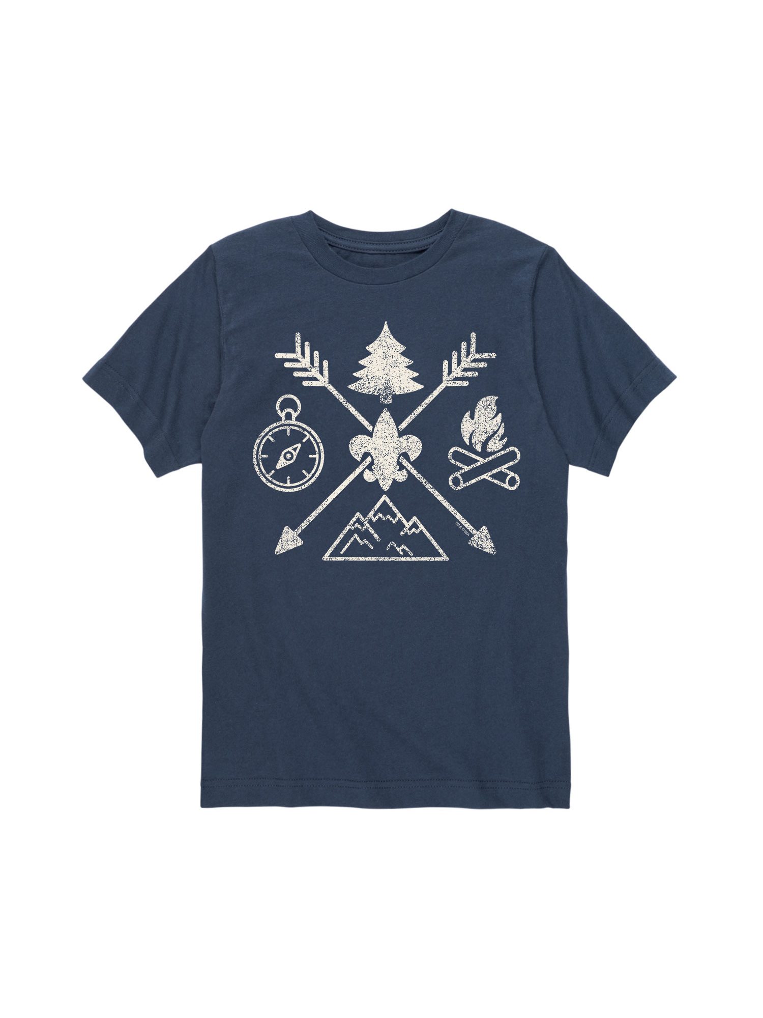 Boy Scouts of America Camp Symbols - Toddler Short Sleeve Tee