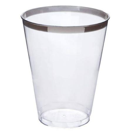 Balsacircle 12 Pcs 7 Oz Clear Disposable Plastic Cups For Wedding