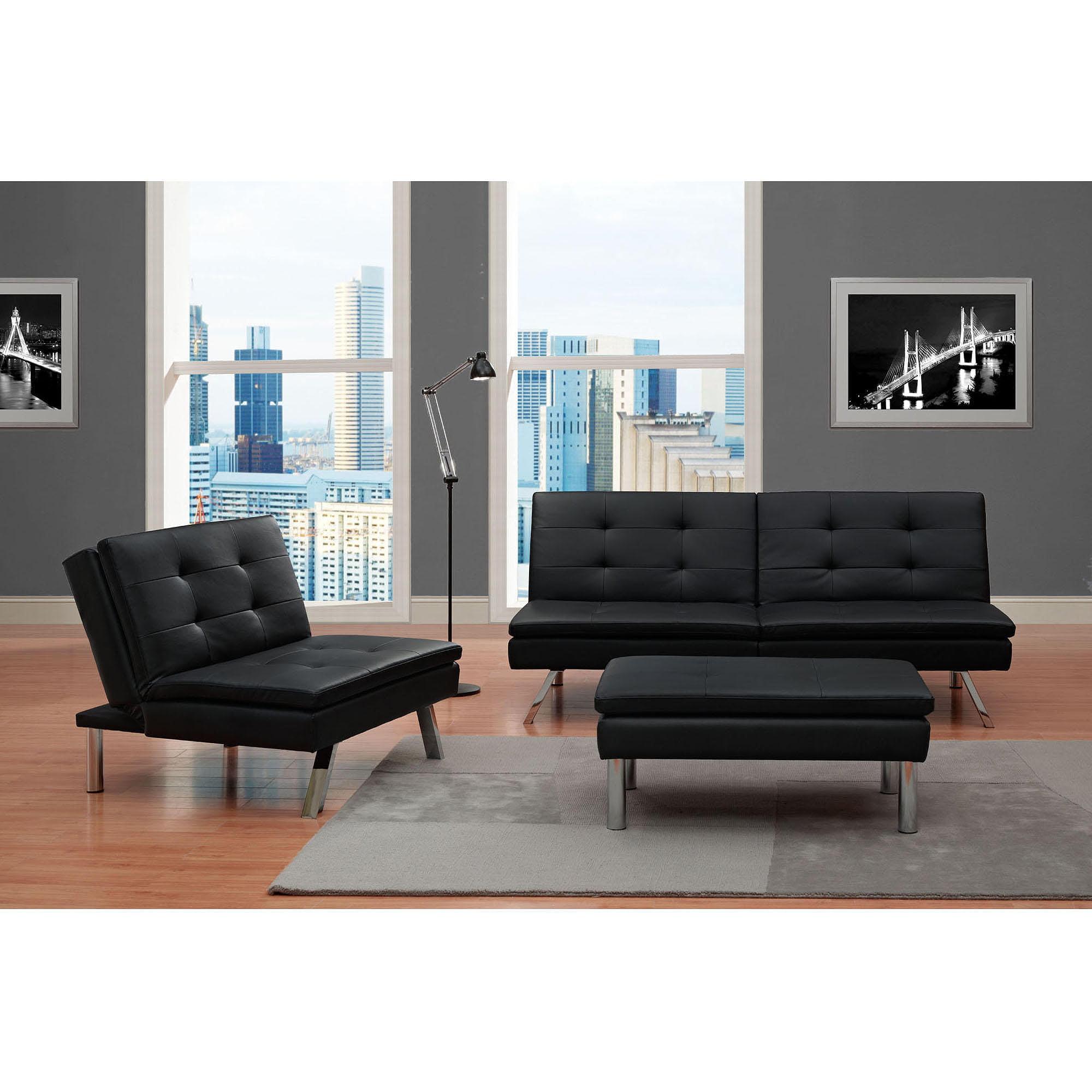 Chelsea Convertible Chair, Black - Walmart.Com