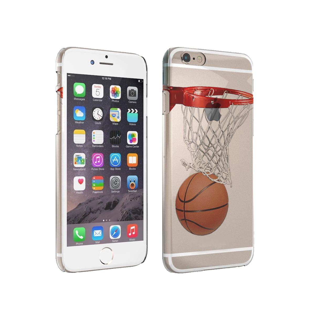 KuzmarK iPhone 6 Clear Cover Case - Basketball Hoop Basketball