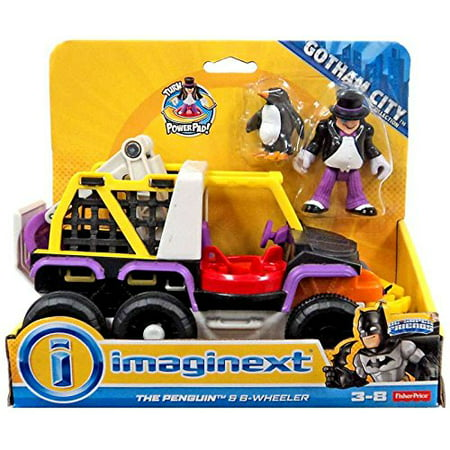 Imaginext Gotham City DC Superfriends Batman Villain vehicle with Minifigure - Penguin & 8 Wheeler Truck (Penguin Dc)