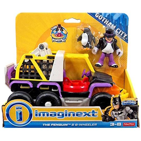 Imaginext Gotham City DC Superfriends Batman Villain vehicle with Minifigure - Penguin & 8 Wheeler Truck - Batman's Villains