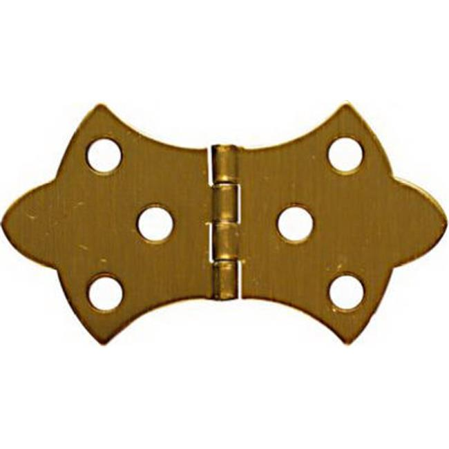 N211-854 1.62 x 3.06 in. Solid Brass Decorative Hinge, Antique Brass, 2 Pack