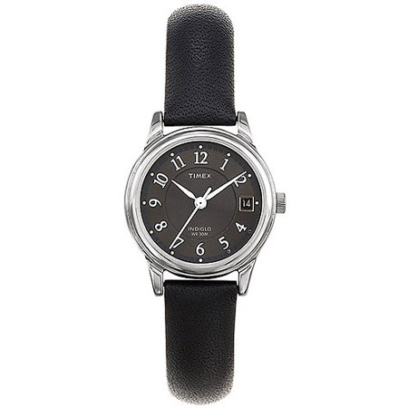 Timex Womens Porter Street Watch  Black Leather Strap