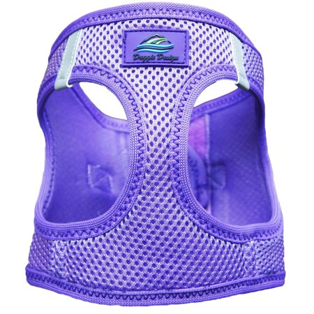 Ultra Choke-Free Mesh Dog Harness - Purple - X-Small, Trachea Safe - Choke Free Patented Design Pulls from the Chest ONLY By American River