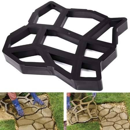 Jaxpety Concrete Stepping Road DIY Stone Molds Outdoor Decorative Stone Walk