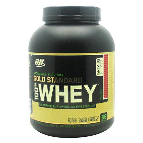 100% Whey Gold Standard Natural - Strawberry Optimum Nutrition 4.8 lbs Powder