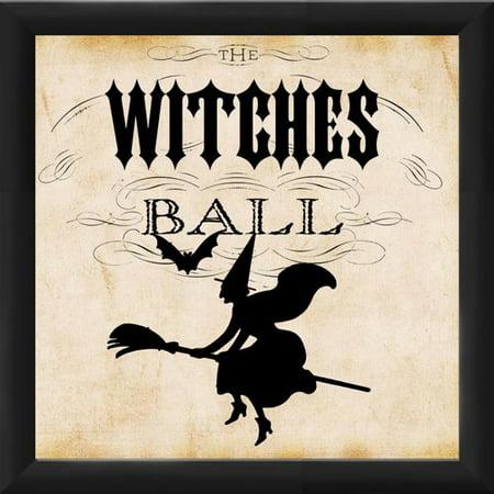 Vintage Halloween Printables To Frame (PTM Images Halloween Witches Ball Framed Vintage)