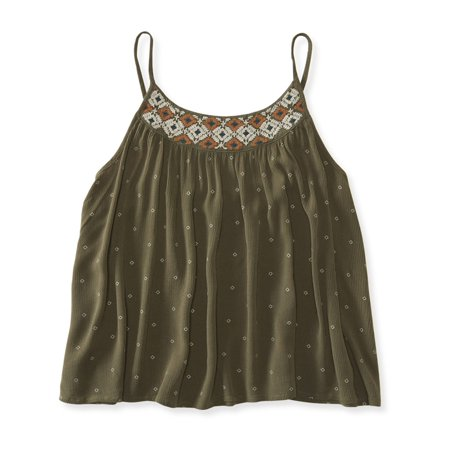 Aeropostale Juniors Embroidered Swingy Cami 186 S - Juniors - image 1 de 1