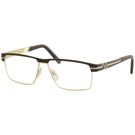 Cazal Men's Eyeglasses 7073 001 Black/Gold Full Rim Optical Frame (Men's Optical Frames)
