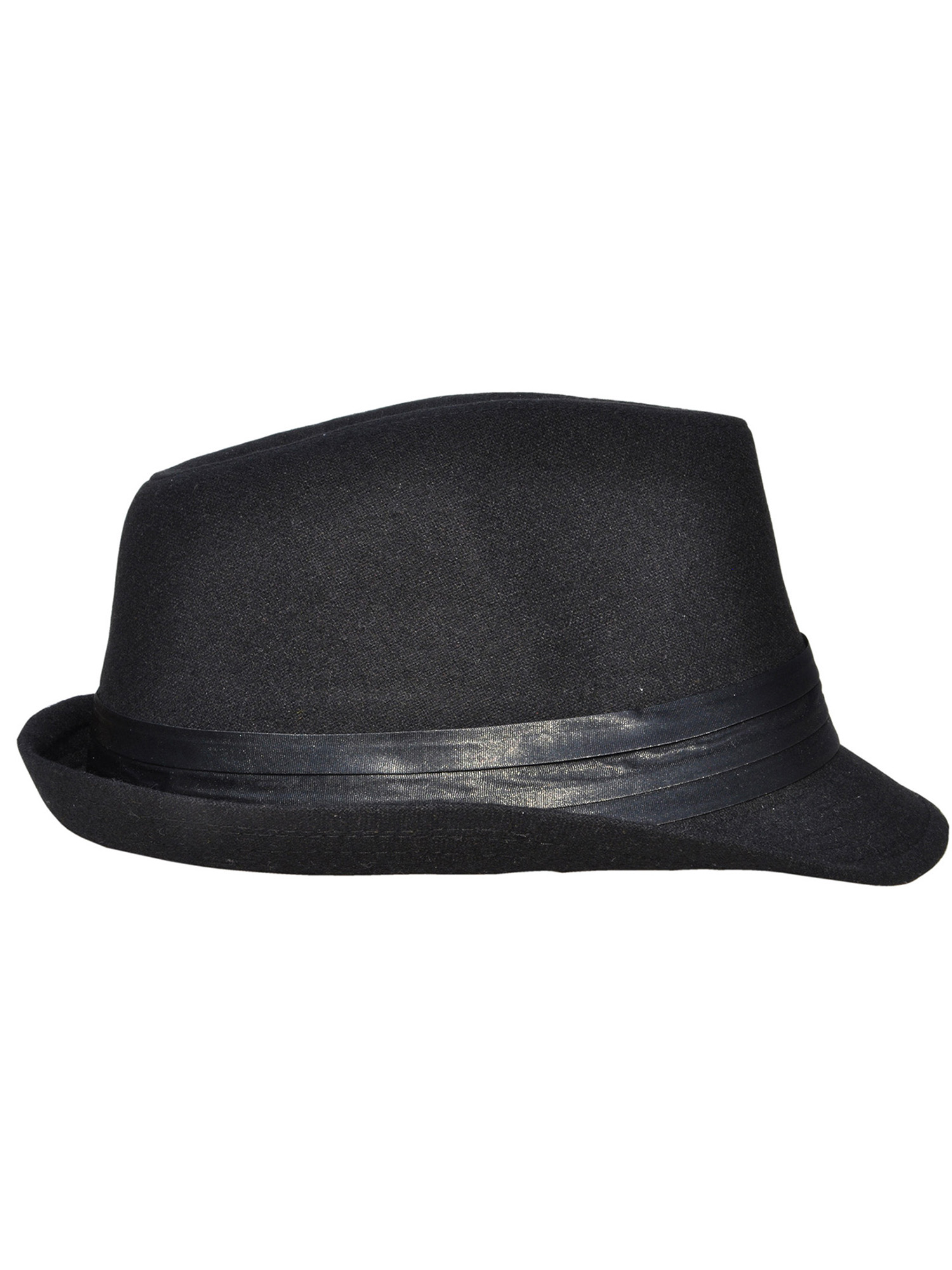 1e6212db9fb8 Simplicity - Mens Wool Fedora Trilby Hat Feather with Black Band -  Walmart.com