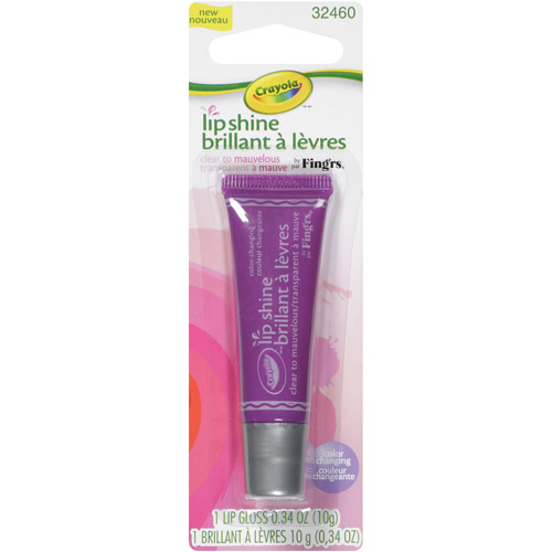 Fing'rs Crayola Lip Shine Lip Gloss, Sheer Clear to Mauvelous