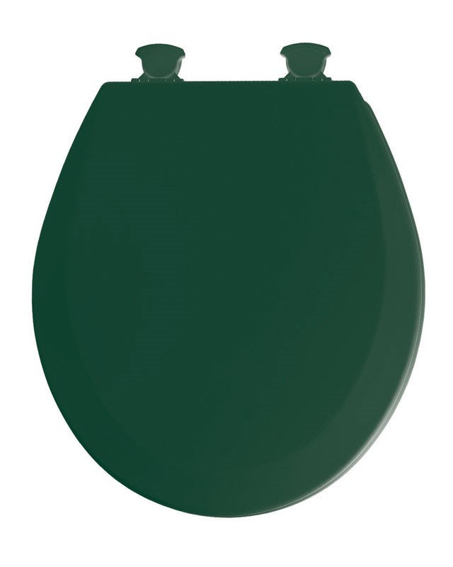 Mayfair Round Toilet Seat Beveled Wood, Molded, Premium Durable Multi Coat Enamel by Bemis