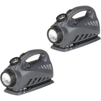 2-Pack Campbell Hausfeld 12V Tire Inflator with Flashlight
