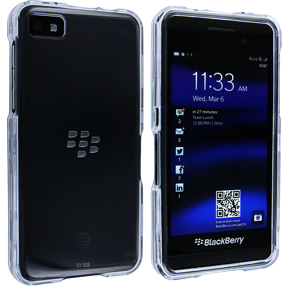Clear Snap-On Hard Case Cover for Blackberry Z10