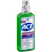 ACT Advanced Care Plaque Guard Mouthwash, Clean Mint 18 oz (Pack of 2)