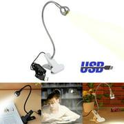 TSV Flexible USB Clip-on LED Light Bed Table Desk Study Reading Lamp