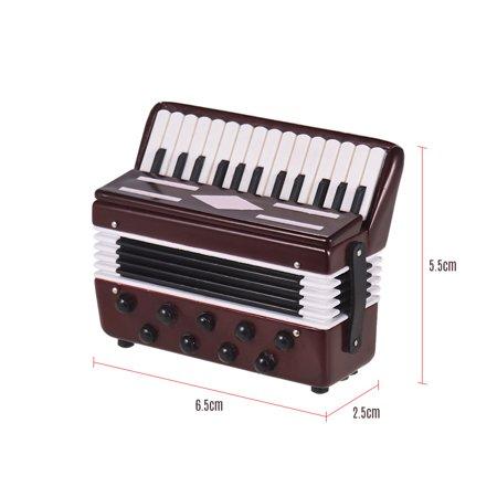 Mini Accordion Model Exquisite Desktop Musical Instrument Decoration Ornaments Musical Gift with Delicate Box](Musical Instrument Decorations)