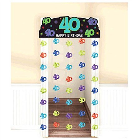Over the Hill 'The Party Continues' 40th Birthday Deluxe Door Curtain (1ct)