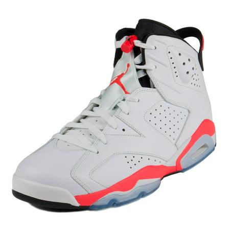 Nike Mens Air Jordan 6 Retro White/Infrared-Black 384664-123