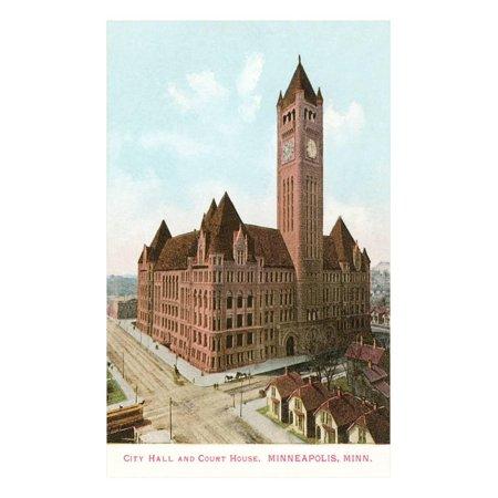 City Hall and Courthouse, Minneapolis, Minnesota Print Wall Art](Party City Minnesota)