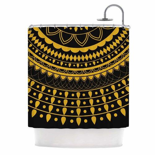 East Urban Home Famenxt Golden Vibes Mandala Shower Curtain