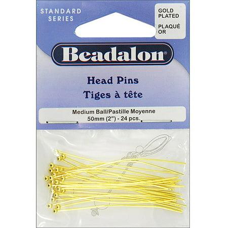 Gold Vegetable Dish - Beadalon Ball Pin: Gold Plated, 50mm