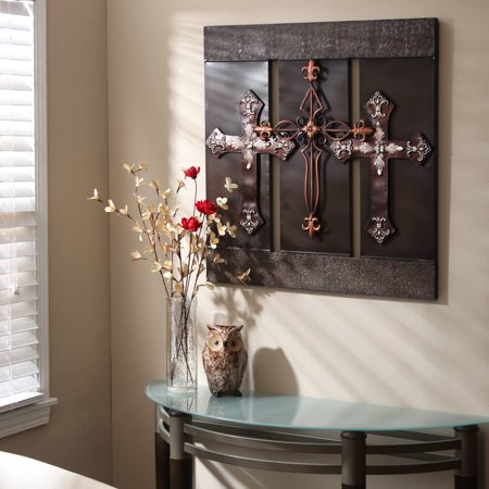 Elegant Expressions by Hosley Bronze Cross Wall Art - Walmart.com