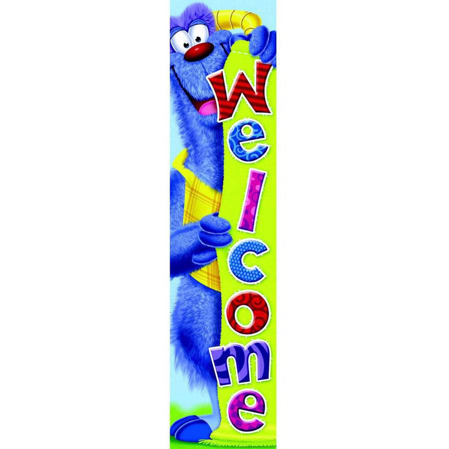 """Trend Enterprises Furry Friends Welcome Quotable Expressions Sturdy Durable Banner, 60"""""""