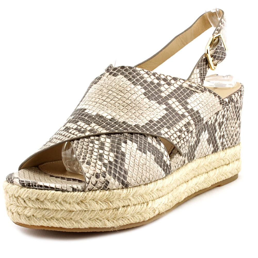 Womens Via Spiga Triana Espadrille Slingback Wedge Sandals - Natural Snake