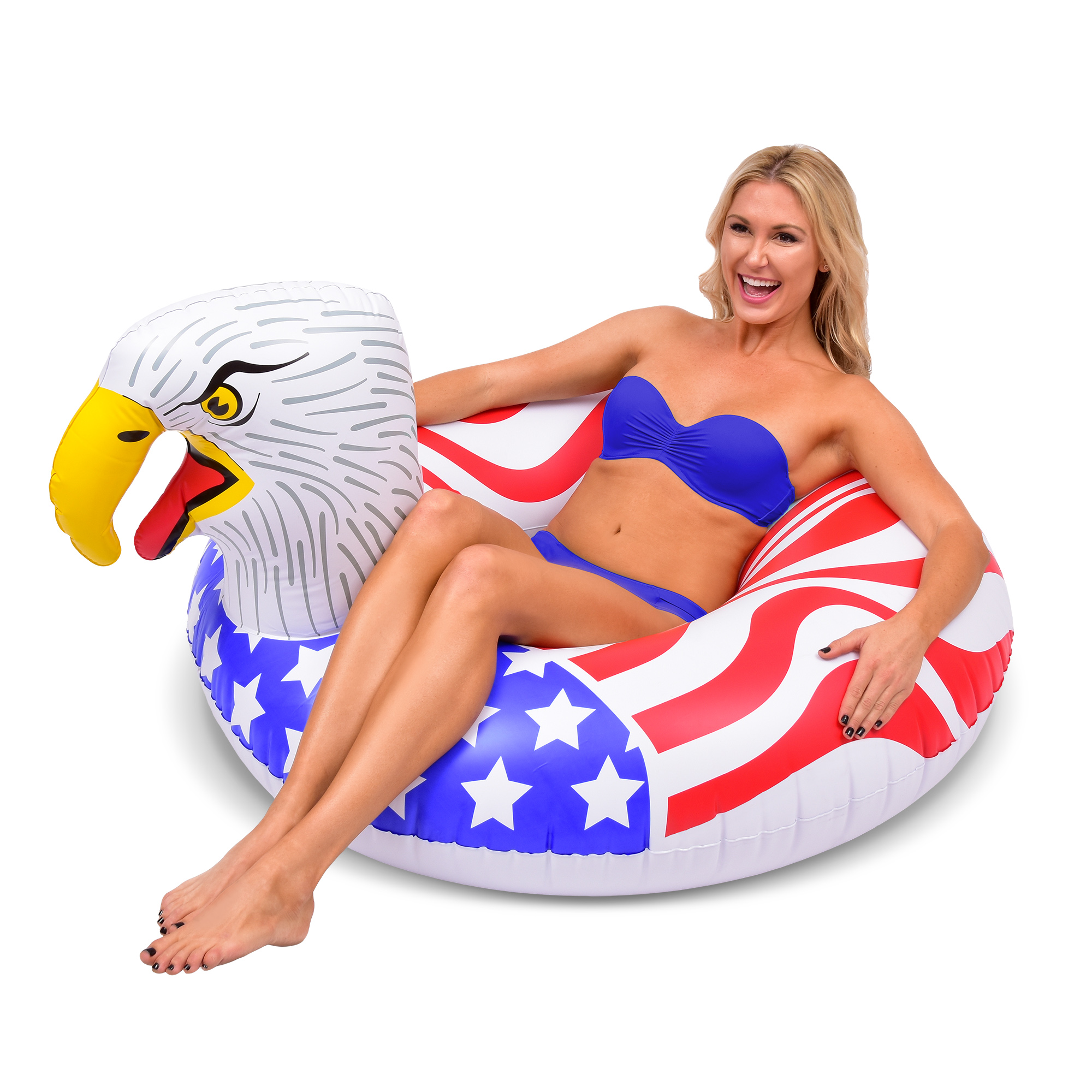GoFloats American Eagle PartyTube Inflatable Raft; Float In Style (for Adults and Kids)
